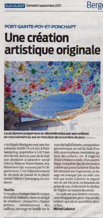 ARTICLE_SUD_OUEST_CHAMPIGNY_ARCHIPELS_2017