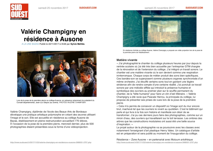 ARTICLE_ZONE AUSONE_SUDOUEST