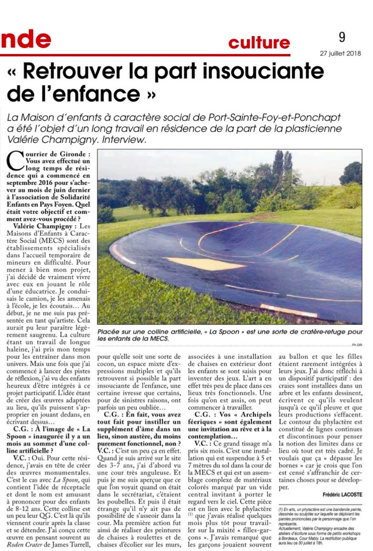 Article_courrier_gironde_résidence_Mecs_2018