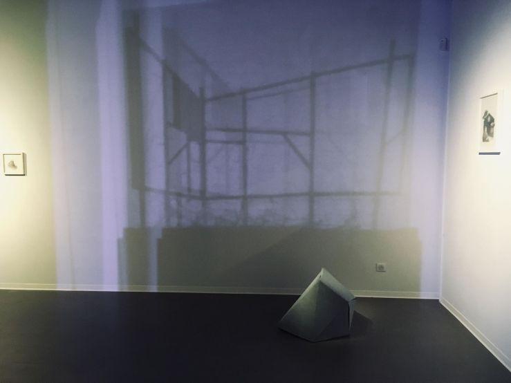 """Installation """"chien dent I"""" Sortie13 Valérie Champigny"""