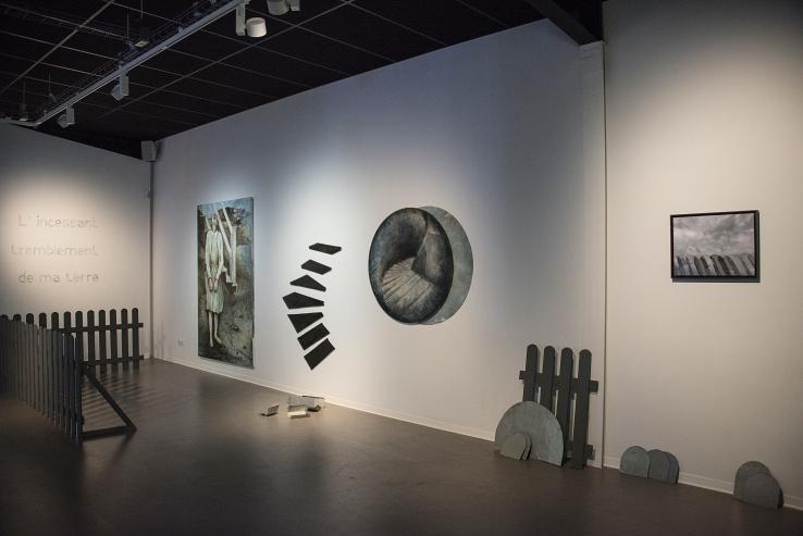 "Installation ""l'incessant tremblement de ma terre"" Sortie13 Valérie Champigny"