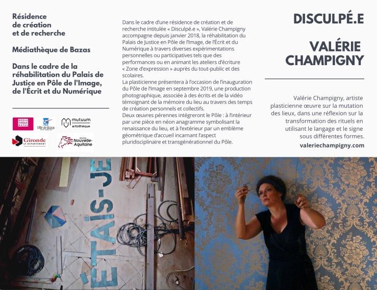 DISCULPé.e Valérie Champigny